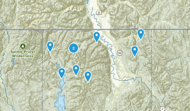 Bonners Ferry, Idaho Walking Map