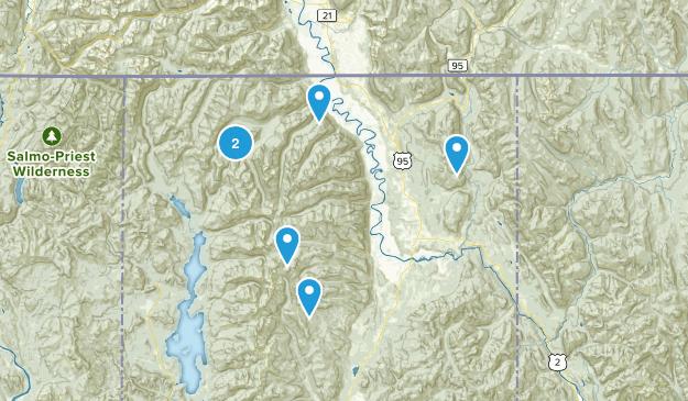 Bonners Ferry, Idaho Wild Flowers Map