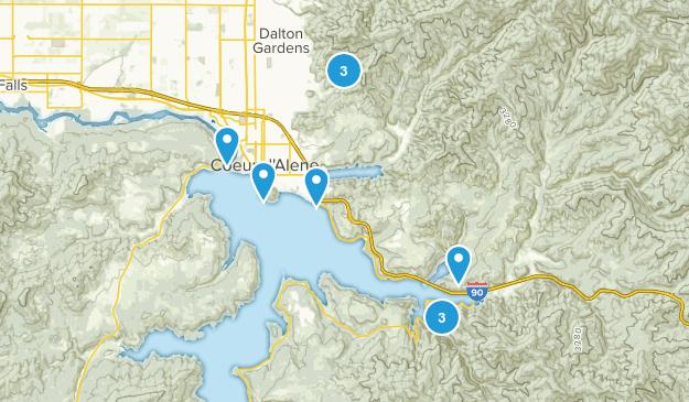 Coeur d'Alene, Idaho Birding Map