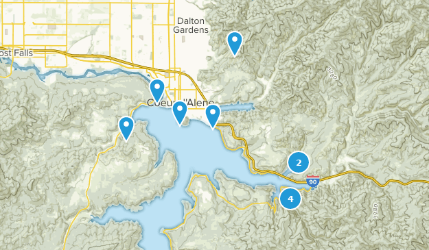 Coeur d'Alene, Idaho Bird Watching Map