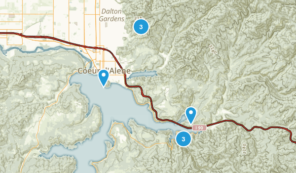 Coeur d'Alene, Idaho Forest Map