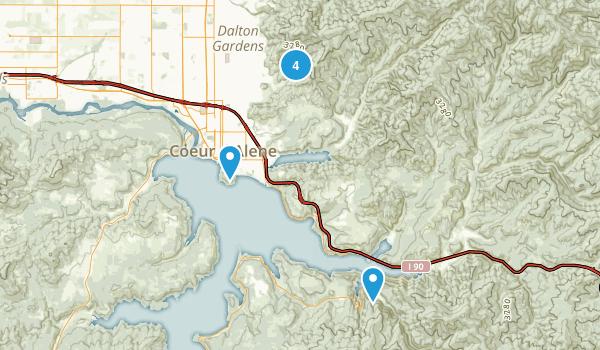 Coeur d'Alene, Idaho Mountain Biking Map
