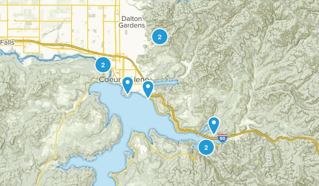 Coeur d'Alene, Idaho Nature Trips Map