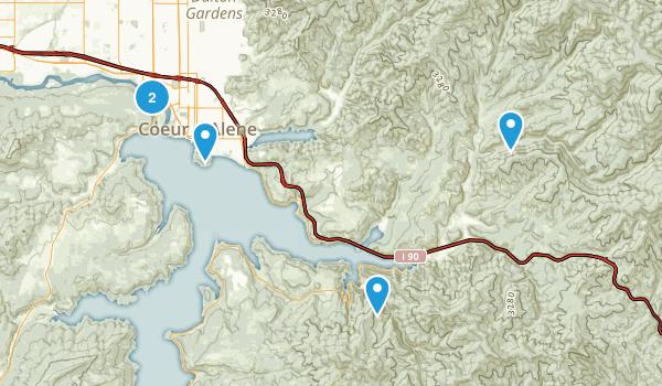 Coeur d'Alene, Idaho River Map