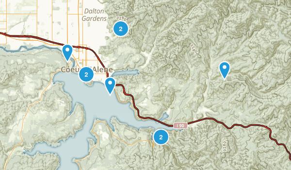 Coeur d'Alene, Idaho Trail Running Map