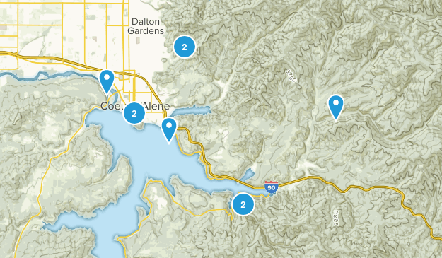 Coeur d'Alene, Idaho Trail Running Map