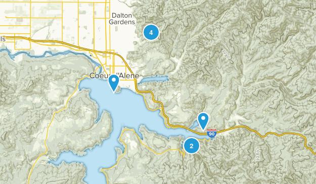 Coeur d'Alene, Idaho Wild Flowers Map