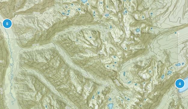 Grandjean, Idaho Hiking Map