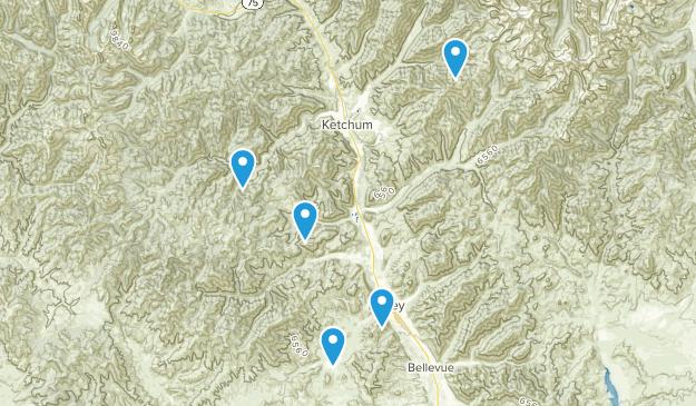 Hailey, Idaho Mountain Biking Map