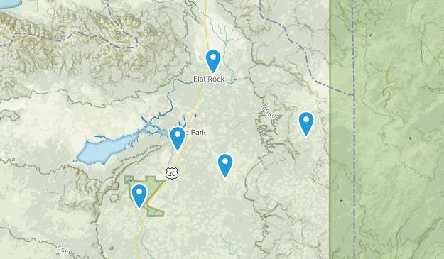 Island Park, Idaho Trail Running Map