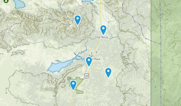 Island Park, Idaho Wild Flowers Map
