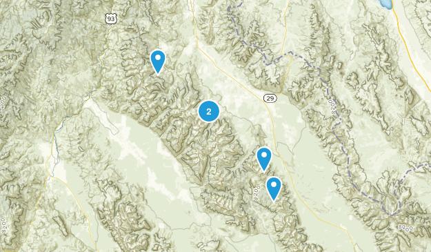 Leadore, Idaho Lake Map