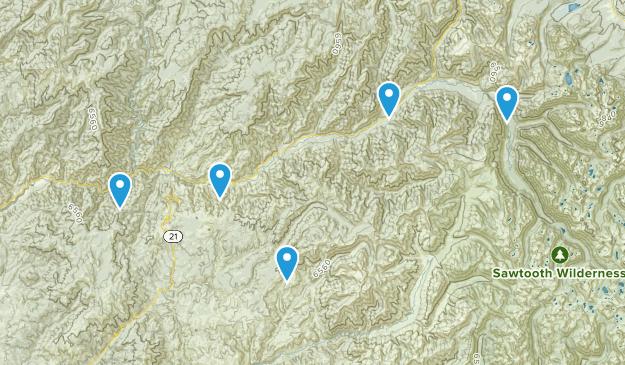 Lowman, Idaho Hiking Map