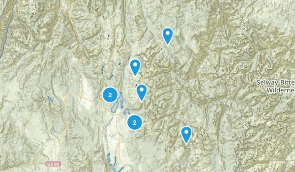 McCall, Idaho Dogs On Leash Map