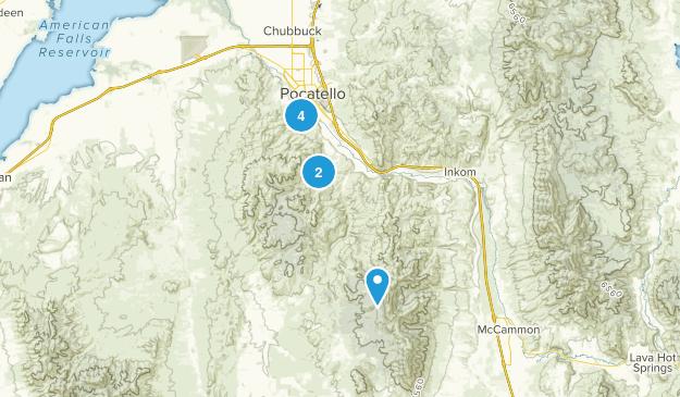 Pocatello, Idaho Mountain Biking Map