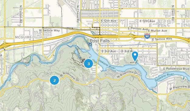 Post Falls, Idaho Birding Map