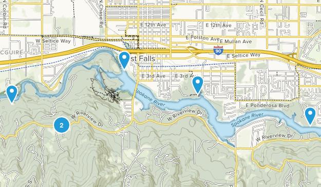 Post Falls, Idaho Kid Friendly Map