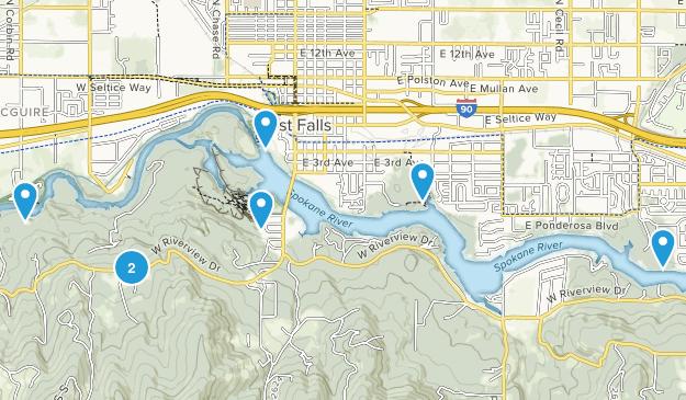 Post Falls, Idaho River Map