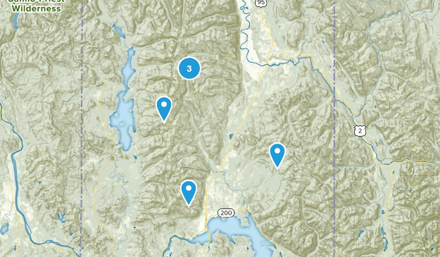 Sandpoint, Idaho Forest Map