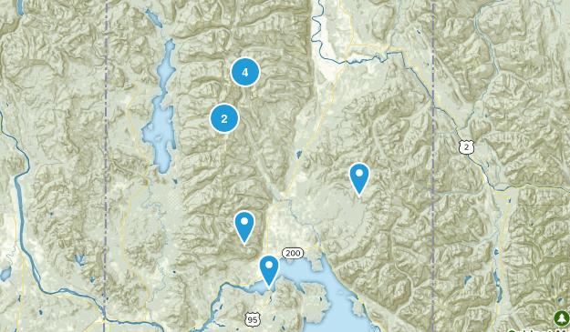 Sandpoint, Idaho Hiking Map