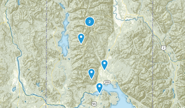 Sandpoint, Idaho Nature Trips Map