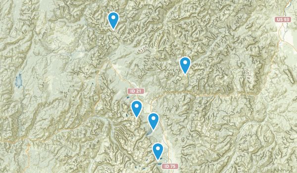 Stanley, Idaho Fishing Map