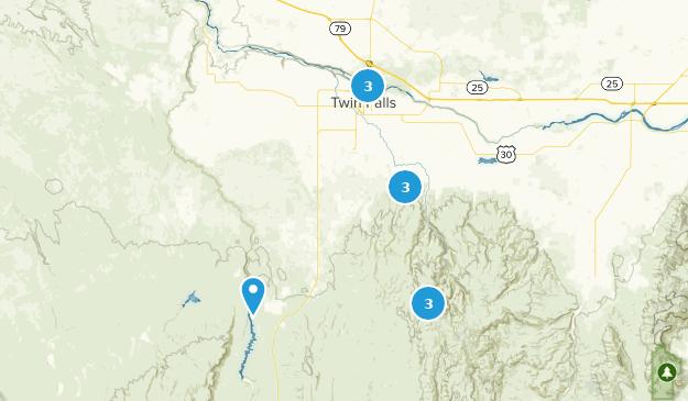 Twin Falls, Idaho Hiking Map