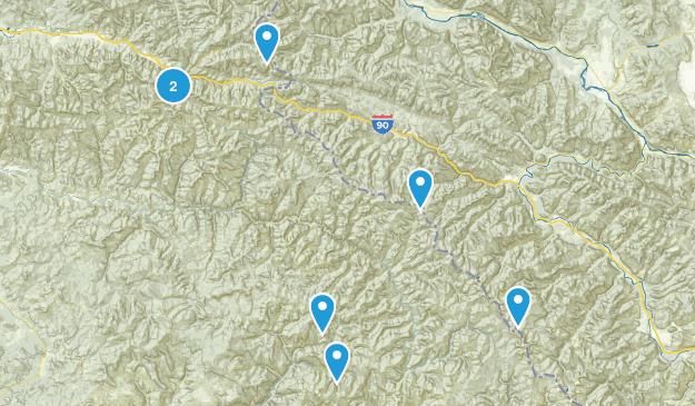 Wallace, Idaho Hiking Map