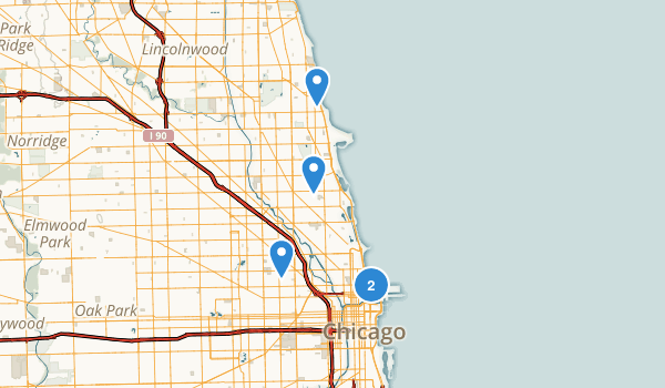 Chicago, Illinois Wheelchair Friendly Map
