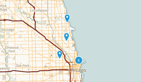 Chicago, Illinois Wheelchair Friendly Map