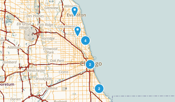 Chicago, Illinois Birding Map