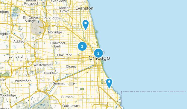 Chicago, Illinois City Walk Map