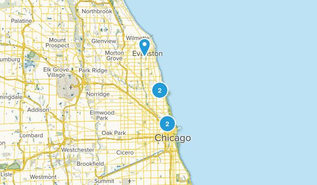 Chicago, Illinois Dog Friendly Map