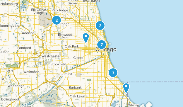 Map Of Trails Near Chicago Illinois Alltrails - Chicago-illinois-us-map