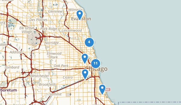 Chicago, Illinois Kid Friendly Map