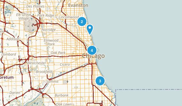 Chicago, Illinois Lake Map
