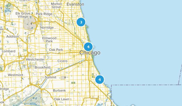 Best Lake Trails Near Chicago Illinois Alltrails - Chicago-illinois-us-map