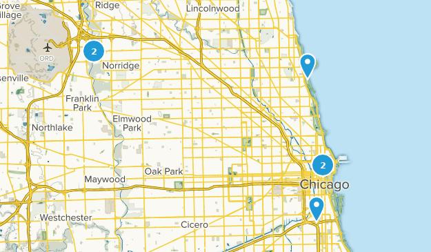 Chicago, Illinois River Map