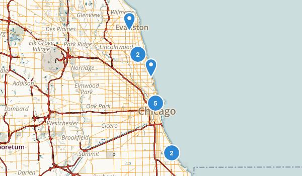 Chicago, Illinois Views Map