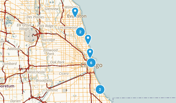 Chicago, Illinois Views Map