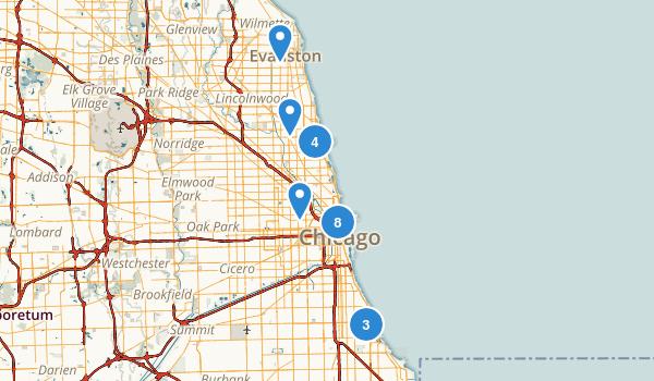 Chicago, Illinois Walking Map