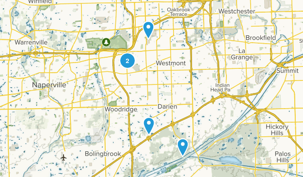 Downers Grove, Illinois Hiking Map