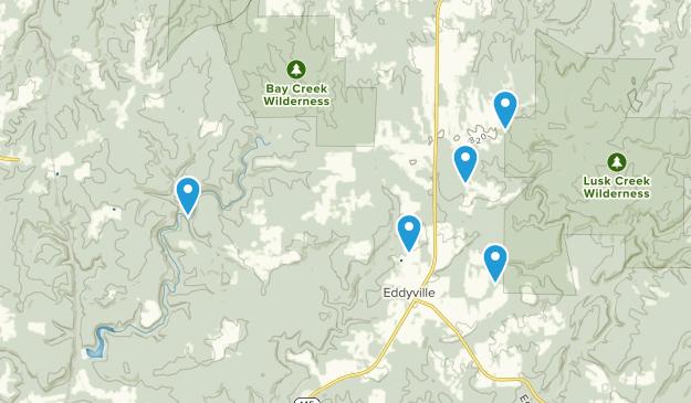 Eddyville, Illinois Hiking Map