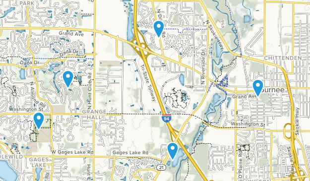 Gurnee, Illinois Kid Friendly Map