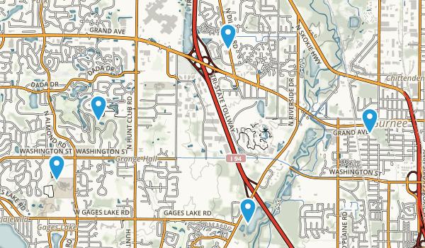 Gurnee, Illinois Walking Map