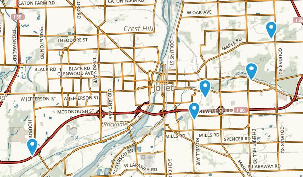 Joliet, Illinois Trail Running Map
