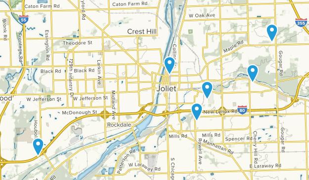 Joliet, Illinois Walking Map