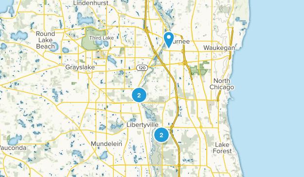 Libertyville, Illinois Birding Map