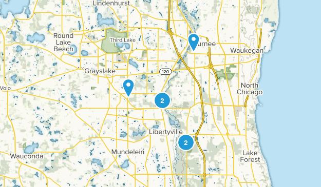 Libertyville, Illinois Hiking Map