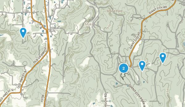 Makanda, Illinois Hiking Map